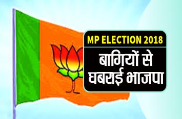 MP ELECTION 2018 : बागियों से घबराई भाजपा, 4 राज्यों के 100 संघ विस्तारक सक्रिय