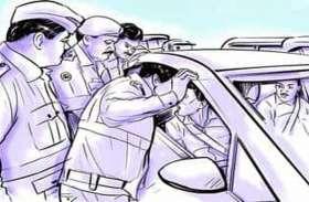 बोर्डर पर २४ घंटे नाकाबंदी, तीन पारियों में लगी पुलिस