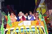MP election 2018: भाजपा के राष्ट्रीय अध्यक्ष अमित शाह ने शाही रोड शो कर लिया मां शारदा से आर्शीवाद