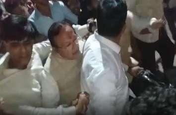 रात को ऐसा क्या हुआ कि सडक़ पर दौड़ते नजर कांग्रेस नेता बीडी कल्ला
