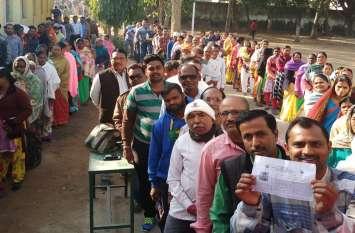 छत्तीसगढ़ विधानसभा चुनाव: दोपहर तीन बजे तक 45.2 फीसदी मतदान