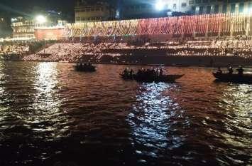 देव दीपावली-लाखों दीपों से जगमगाया गंगा घाट, अद्भृत नजारा देखने को उमड़ी लोगों की भीड़