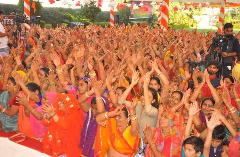 श्रीमद् भागवत् ज्ञान गंगा कथा महोत्सव में मनाया नंदोत्सव..