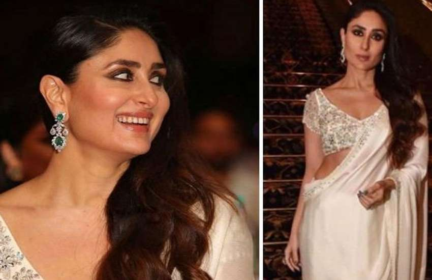 kareena kapoor look stunning and hot in white saree photos viral