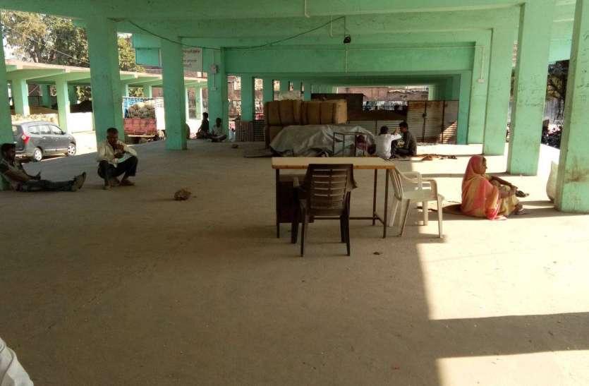 सूने पड़े है खरीद केन्द्र, समर्थन मूल्य पर बनाए गए खरीफ फसल खरीद केन्द्र पर नहीं आ रहे किसान
