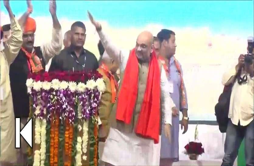 एयरपोर्ट पर अमित शाह ने सुना राहुल गांधी का बयान, राजस्थान पहुंचे ही किया पलटवार