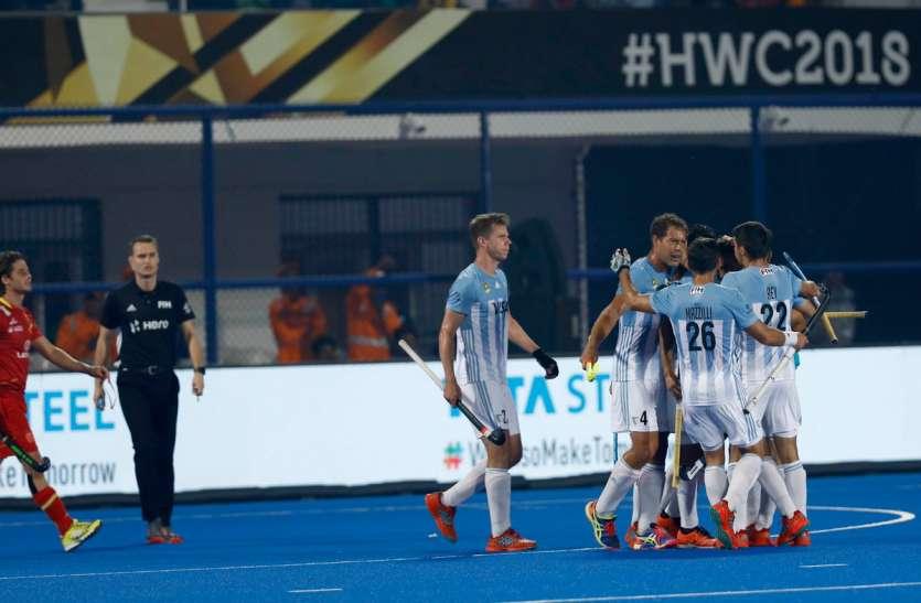 hockey world cup 2018 : अर्जेटीना का विजयी आगाज, स्पेन को 4-3 से हराया