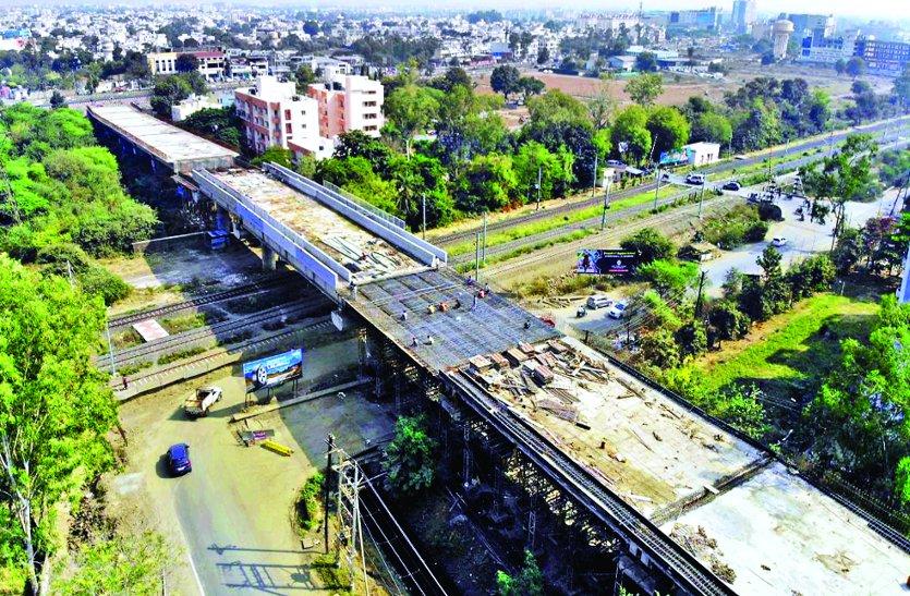 बावडिय़ाकला आरओबी से फरवरी तक हो जाएगा ट्रैफिक शुरू, 80 फीसदी तैयार