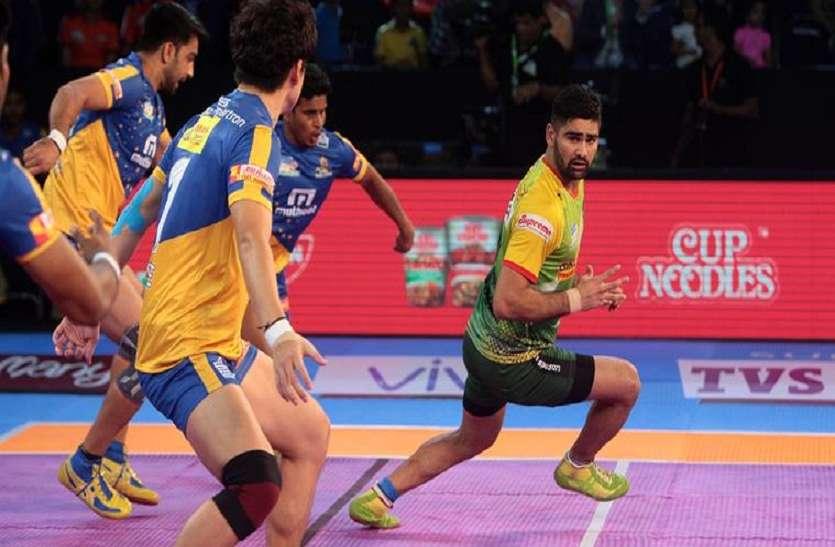 Pro Kabaddi league :  प्रदीप ने थलाइवाज से छीनी जीत