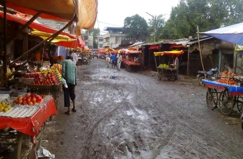 शहर की सबसे व्यस्त मंडी बेहाल, यहां न सडक़ है और न ही उठ रहा कचरा