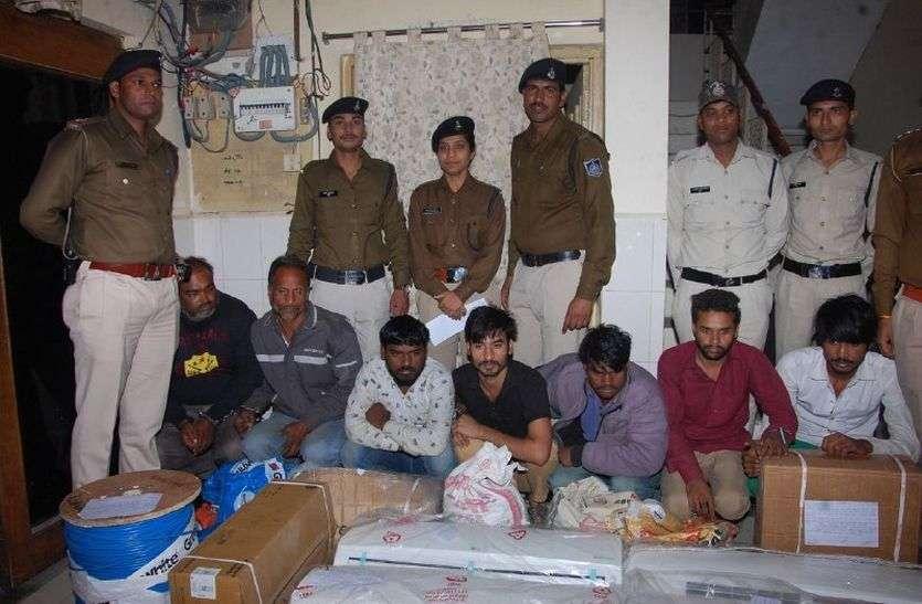 मेडिकल कॉलेज में चोरी के आरोप में सात गिरफ्तार