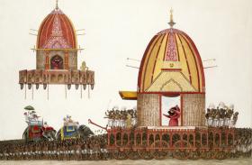 विक्टोरिया म्यूजियम में जगन्नाथ रथ यात्रा के मनोरम चित्र