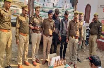 रोहनिया पुलिस को मिली सफलता, 25 लाख की अवैध शराब बरामद