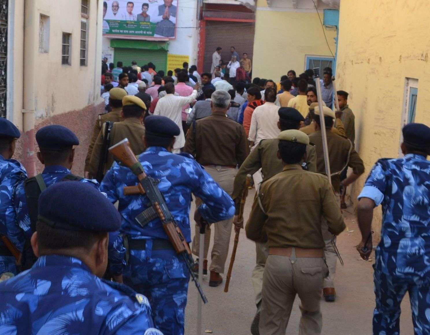 sikar police in Voting Day