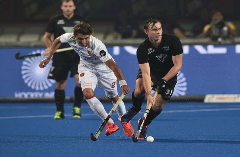 Hockey World Cup: न्यूजीलैंड-स्पेन मुकाबला ड्रा, क्वार्टरफाइनल में नहीं पहुंच सकी दोनों टीमें