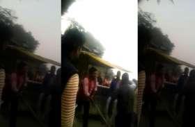 VIDEO: राजा भैया का पोस्टर फाड़ने वाले दलित युवक की बेरहमी से पीटा