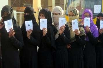 PHOTO@ : राजस्थान की हॉट सीट के लिए नवाबों के शहर टोंक में पर्दानशी महिलाओं में भी दिखा मतदान के प्रति उत्साह...देखें तस्वीरें