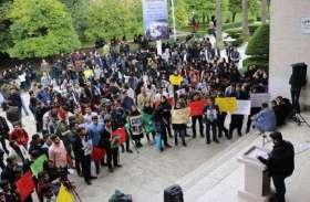 वीडियोः सरकार के भ्रष्ट नीतियों के खिलाफ कर्मचारियों का प्रदर्शन
