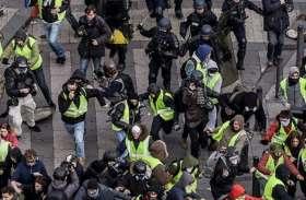 फ्रांस : सरकार के खिलाफ फिर सड़कों पर उतरे लोग, पुलिस ने छोड़े आंसू गैस के गोले