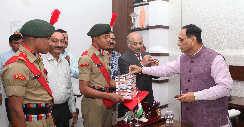CM Rupani contribution to sainik welfare fund