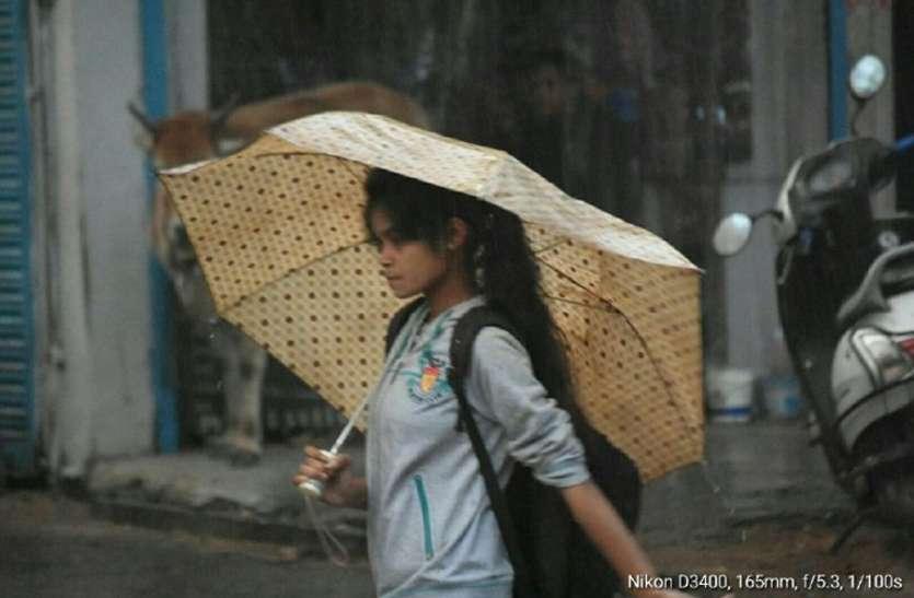सर्द हवाओं के साथ देर शाम जोरदार बारिश
