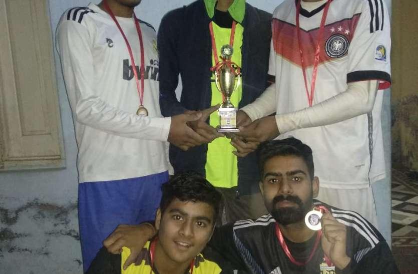 फुटबॉल प्रतियोगिता में मास्टर उदय क्लब विजयी