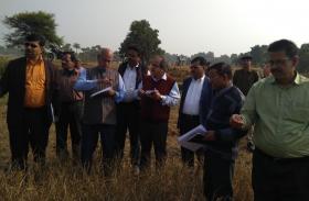 केंद्रीय टीम ने सुखाड़ का जायजा लिया,राज्य सरकार के दावों पर लगाई मुहर