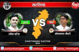 खरसिया से भाजपा उम्मीदवार पूर्व IAS ओपी चौधरी पीछे, कांग्रेस के उमेश ने बनाई बढ़त