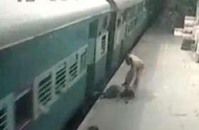 ट्रेन से कटते-कटते बची युवती, आरपीएफ ने बचाई जान