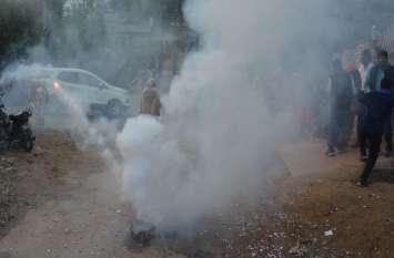 आतिशबाजी में कांग्रेसियों के कपड़े जले, मची भगदड़