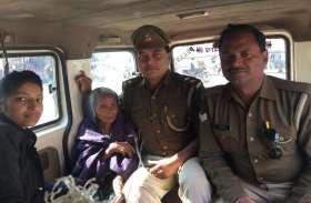 लखनऊ पुलिस ने बुजुर्ग को पहुंचाया आश्रम देखें तस्वीरें