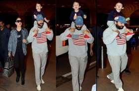 तैमूर को पसंद है पापा सैफ की सवारी, एयरपोर्ट पर कुछ ऐसी दिखी बाप-बेटे की जोड़ी