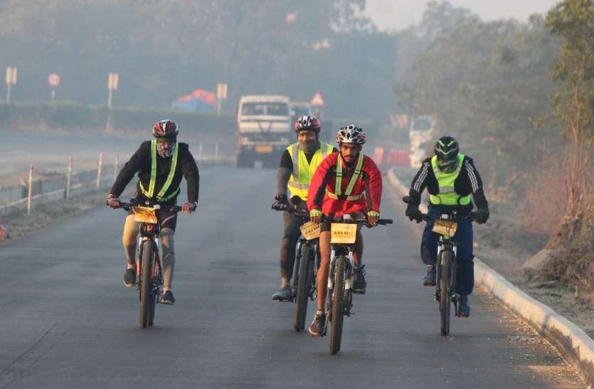 उदयपुर में पहली बार हुई ब्रेवेट, साइक्लिस्ट ने की 200 किलोमीटर की रेस