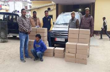 लग्जरी वाहन से पकड़ी गई लाखो की अवैध शराब