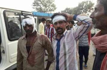 अलवर में यहां दो पक्षों में खूनी संघर्ष, लाठी-फर्सों से इतने लोग हुए घायल
