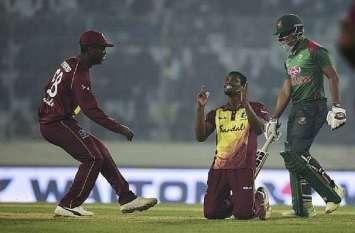 वेस्टइंडीज ने  आखिरी टी-20 मैच में मेजबान बांग्लादेश को 50 रनों से मात देकर सीरीज 2-1 जीती