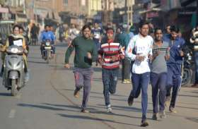 गो संरक्षण के लिए मैराथन दौड़े सैकड़ों धावक