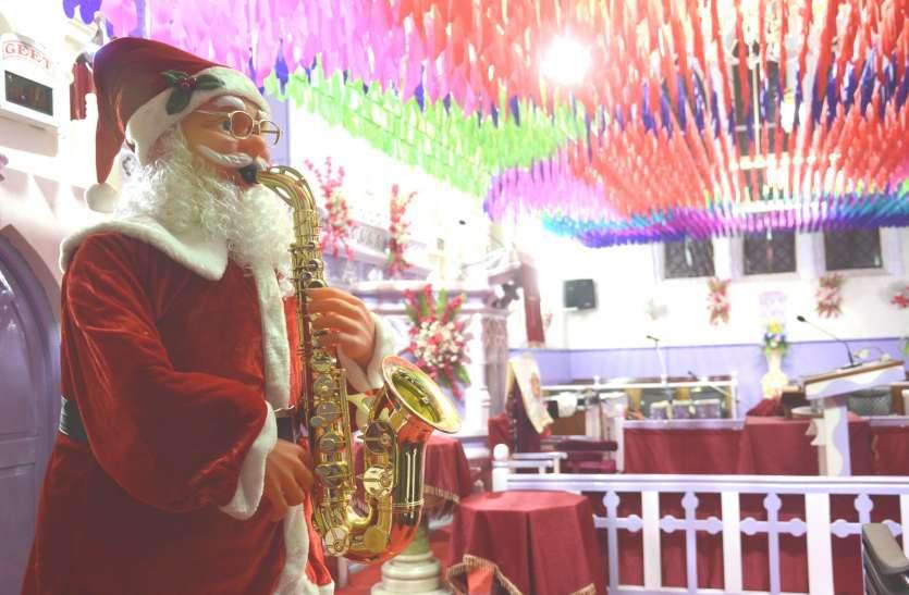 चर्च हुए रोशन, प्रभू  जन्म की मनाई खुशियां