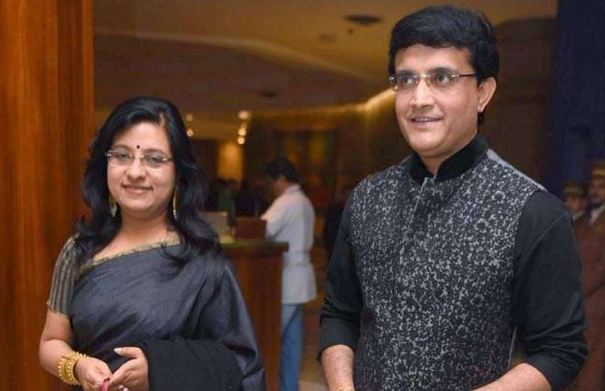 Cricket Sourav Ganguly and wife dona