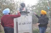 लुधियाना में अकाली दल कार्यकर्ताओं ने राजीव गांधी की प्रतिमा पर कालिख पोती, सीएम बोले-माफी मांगें सुखवीर बादल