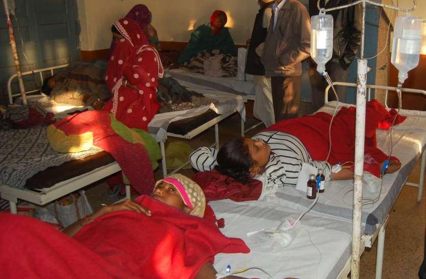 मेहमदपुर के अलावा अन्य स्थानों के पीलिया से पीडि़त मरीज भी भर्ती
