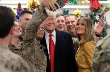इराक पहुंच डोनाल्ड ट्रंप ने सबको हैरत में डाला, सैनिकों के साथ मनाया क्रिसमस