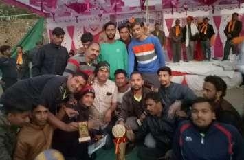 आमेटा समाज की वॉलीवाल प्रतियोगिता में करणपुर विजेता व तीतरड़ी की टीम उपविजेता