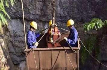 मेघालय खदान: पानी का लेवल पता लगाने गई टीम 70 फीट नीचे से लौटी, सोमवार को बेहतर नतीजे की उम्मीद