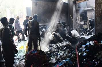 आग से लाखों रुपए का नुकसान