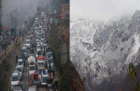 जम्मू-कश्मीर में सर्दी का प्रकोप, बारिश-बर्फबारी के बाद राष्ट्रीय राजमार्ग बंद