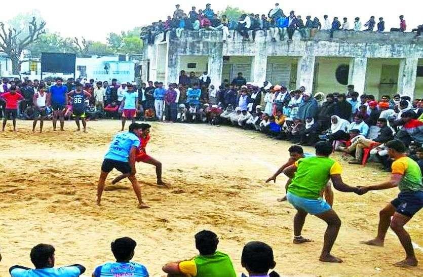 कबड्डी और वॉलीबॉल के हुए रोमांचक मैच