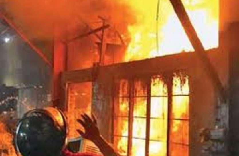 बरानगर पार्षद के घर में भयावह आग