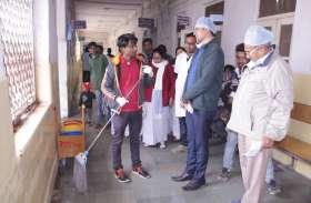 600नंबर के लिए टीम ने 6घंटे किया जिला अस्पताल का निरीक्षण