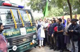 पंचायत मंत्री टीएस ने रायपुर से सरगुजा के लिए भेजे 8 गजराज वाहन, इन सुविधाओं से हैं लैस